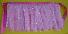 non elastic tutu...really cute idea. I could see making a bunch of these for a princess birthday party.