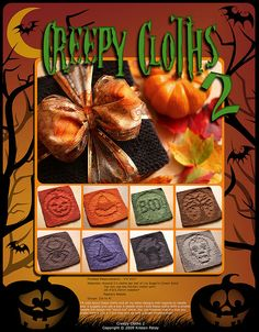 Ravelry: Creepy Cloths 2 pattern by Kris Knits Halloween Knitting Patterns, Halloween Crochet, Halloween Crafts, Halloween Ideas, Dishcloth Knitting Patterns, Crochet Dishcloths, Hand Knitting, Knit Patterns, Easy Crochet Projects