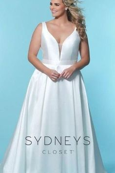The Jayne wedding dress is tailored with a deep V-neckline and sweeping A-line to flatter every figure. Buy this Mikado satin wedding dress at Sydney's Closet. Beaded Lace, Lace Applique, Mermaid Wedding, Formal Dresses, Wedding Dresses, Wedding Details, Tulle, Sequins, Neckline
