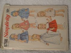 "Simplicity 6766 Craft Doll Clothes 18"" Dolls Vintage 1966 Cut Complete No Missing Pieces - pinned by pin4etsy.com"