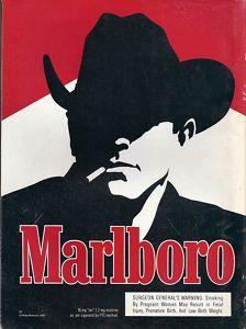 the marlboro man on tv commercials sure made it big. he dies at young age from lung cancer. Vintage Ephemera, Vintage Ads, Malboro, General Strike, Marlboro Cigarette, Banner Online, Marlboro Man, Print Design, Graphic Design