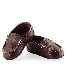 Baby Boy Brown Loafer Booties