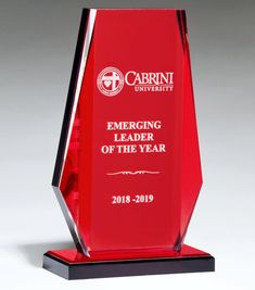 Our Red Mirror Acrylic Award features a thick piece of acrylic for laser engraving personalization with a black base with a red mirror top that gives the award it's red look. Acrylic Trophy, Laser Cutter Ideas, Crystal Awards, Acrylic Awards, Trophy Design, Red Mirror, Laser Engraving, Crystals, Poster