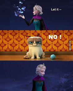 Grumpy Cat Frozen!