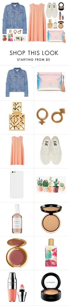 """Juicy Apricot"" by sophiehackett ❤ liked on Polyvore featuring Acne Studios, J.Crew, Tory Burch, Vans, Herbivore, Giorgio Armani, Lipstick Queen, Elizabeth Arden, Lancôme and MAC Cosmetics"