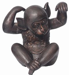 World of American Home Decor Warehouse Monkey Scratching Head Bronze Statue, 18 by 18-Inch ** Check out this great product.