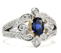 European Sapphire Diamond Ring  $1,845 USD