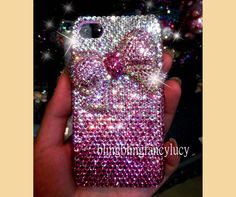 iphone case iphone 4 case bling crystal by iPhoneCasesFancylucy, $24.98