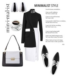 """minimalist  style"" by dawndyb ❤ liked on Polyvore featuring Alexander Wang, Cushnie Et Ochs, Jason Wu, McQ by Alexander McQueen, Givenchy and Damiani"