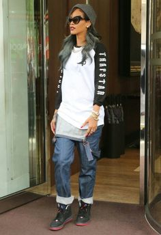 40b7080c531ce  rihanna  outfit  fashion Tomboy Outfits