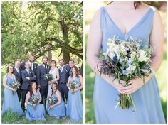 Brooks California Wedding bride and groom with bridal party