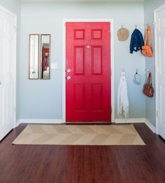 Superb Cheery, Cherry Red Door For Home Entryway