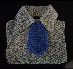Manly Baby Bib.  Unique, easy knit pattern.