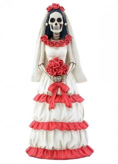 Day of the dead bride cake topper- weddingcollectibles.com