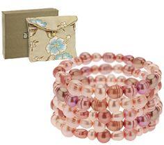 Honora Cultured Pearl Set of 5 Stretch Bracelets