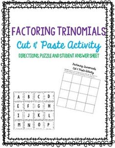 new 4x4 puzzle that they can then paste onto the answer sheet ...