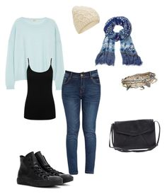 """""""Everyday 1"""" by lysase on Polyvore featuring J Brand, M&Co, Converse, Diane Von Furstenberg, Aéropostale, Accessorize, women's clothing, women's fashion, women and female"""