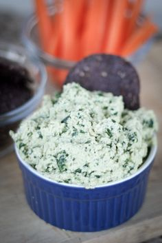Healthy Super Bowl Option -- Vegan Spinach Dip