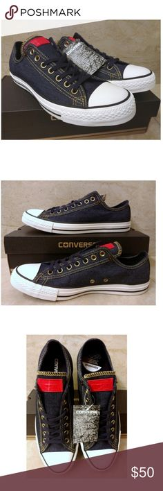 Converse Chuck Taylor All Star Denim Blue Size 9 Condition  Brand new with  box NWB af38a6c71166d