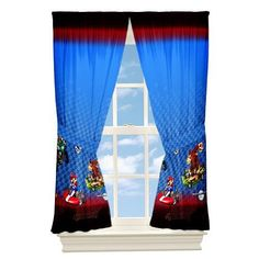 """Girl or Boy were doing a Markio Kart Baby Room! Super Mario """"To The Track"""" Drapes Kids Window Panels Mario Kart Boys for only $18.44"""