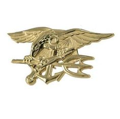 US Navy Seals Special Warfare badge - Gold