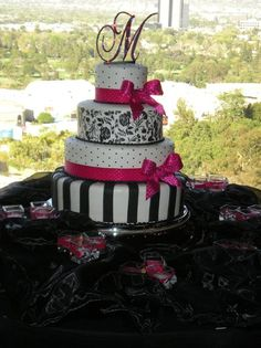 fushia and gold cakes | ... White Round Summer Wedding Cakes Photos & Pictures - WeddingWire.com