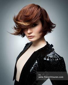 RUSH Mittel Braun weiblich Gerade Moderne Multi-tonalen Frauen Haarschnitt Frisuren hairstyles