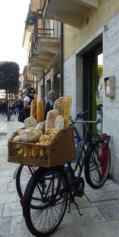 Bread delivery!  France.   ASPEN CREEK TRAVEL - karen@aspencreektravel.com