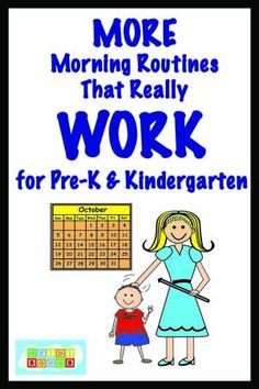 MORE Morning Routines that Really Work for Pre-K and Kindergarten
