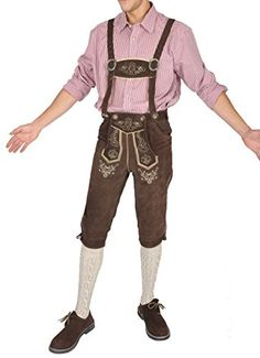Oktoberfest Outfit, Lederhosen, German Costume, French Beret Hat, Lined Denim Jacket, Short Rain Boots, New Fashion, Fashion Outfits, Hollywood Men