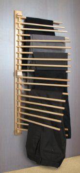 Porte Pantalons (x20) en Pin Verni pour Armoire Dressing: Amazon.fr: Cuisine & Maison