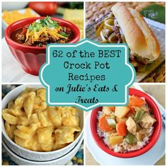 62 of the BEST crock pot recipe on Julie's Eats & Treats! 62 dinner ideas perfect for winter.