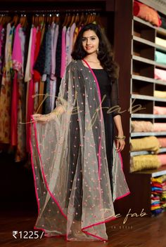 Best 12 I luv this duppata – SkillOfKing. Indian Gowns, Indian Attire, Indian Wear, Indian Outfits, Dress Neck Designs, Blouse Designs, Churidar Designs, Mode Simple, Indian Designer Suits