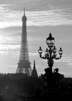 Paris / Eiffel Tower / black and white photos