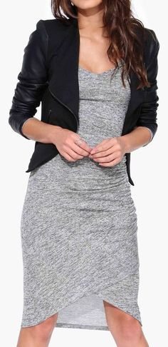 Camile Sweater Dress in Gray