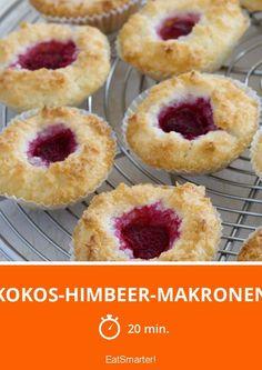 Kokos-Himbeer-Makronen - smarter - Zeit: 20 Min. | eatsmarter.de