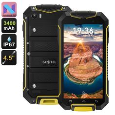 "Geotel Rugged Android 7 Smartphone Mobile Cell Phone 4.5"", 8MP, IP678MP Camera #GeotelA1Android70"