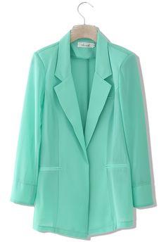 Mint Green Blazer