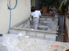 This is a construction photo of a DIY hot tub built in Israel. Learn how to build your own DIY hot tub at: www.custombuiltspas.com