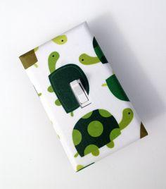 Turtle Light Switch Plate Cover / Baby Nursery / Children Kids Room / Gender Neutral / Bright Green. $8.00, via Etsy.