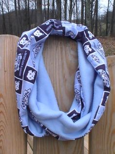 UNC Blue Cotton Fleece Soft Infinity Cowl by tammylynnscreations, $18.00