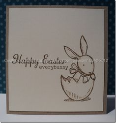 charlie camp stampin up everybunny convention swap