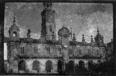 Fachada do Concello, Lugo. Ca. 1915. Placa de cristal. Bromuro rápido ou clorobromuro lento. 4,5 x 6,9 cm.