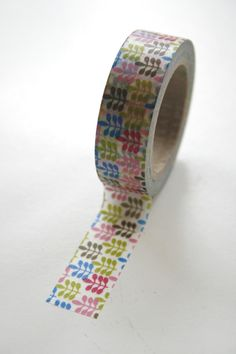 Washi Tape 15mm Multi Color Leaves Design Deco by InTheClear