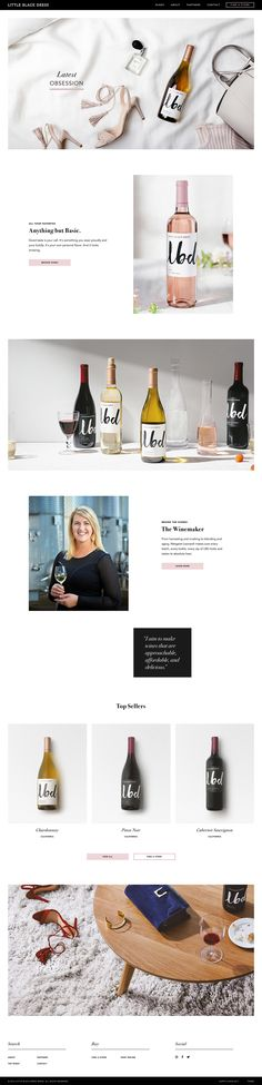 LBD wines by @theogroup http://mindsparklemag.com/website/lbd-wines/ LBD Wines site of the day webdesign beautiful website award The O Group mindsparkle mag
