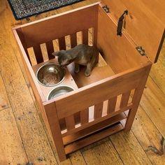 Dog Proof Cat Feeding Station | Catnip Alley Studio Blog: Dog-Proof Cat Feeding Station