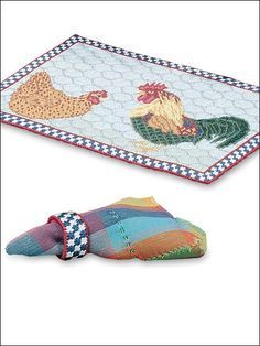 Plastic Canvas - Kitchen & Dining - Rooster Table Setting