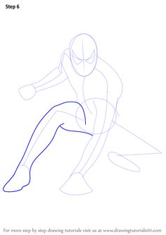 Learn How to Draw Spiderman (Spiderman) Step by Step : Drawing Tutorials