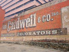 Sam Caldwell ghost sign in Cincinnati, OH