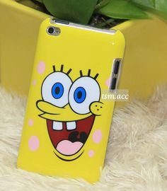 Spongebob Cartoon Hard Case Back Cover For iPod Touch Generation Ipod 4 Cases, Cute Phone Cases, Iphone Cases, Spongebob Cartoon, Ipods, Desk Ideas, Cute Cases, Apple Products, Dance Moms